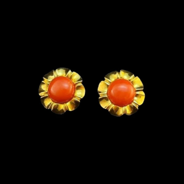 Bridgerton coral gold jewelry
