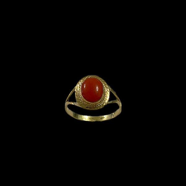 anello oro e corallo rosso