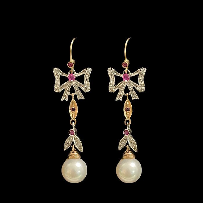 orecchini oro e pietre preziose